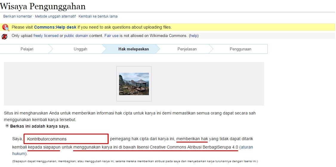 Karya Yang Anda Kontribusikan Di Wikimedia Commons Akan Menerapakan Lisensi Creative Commons Atribusi Berbagiserupa   Yang Artinya
